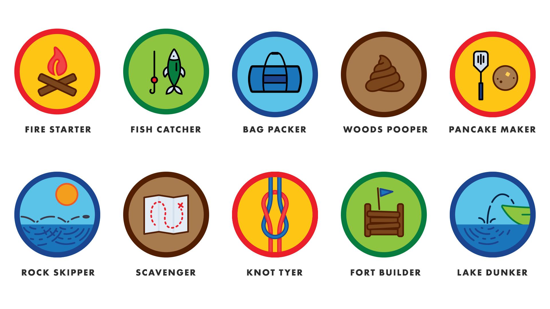 Camp Sheraton Merit Badges by Mark Sheraton